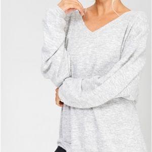 NWT Wishlist Balloon Sleeve Sweater Heather Gray